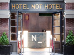 The Not hotel - entrance hotel accommodation holland netherlands dmc dutchman
