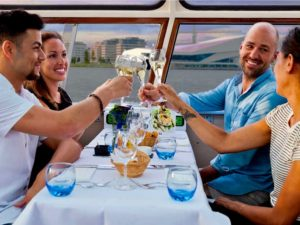 Boat dinner private cruise toast